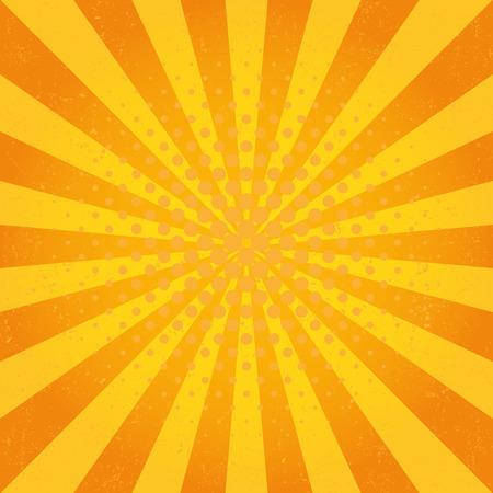 yellow star: Sun Sunburst Pattern. Retro Background Illustration