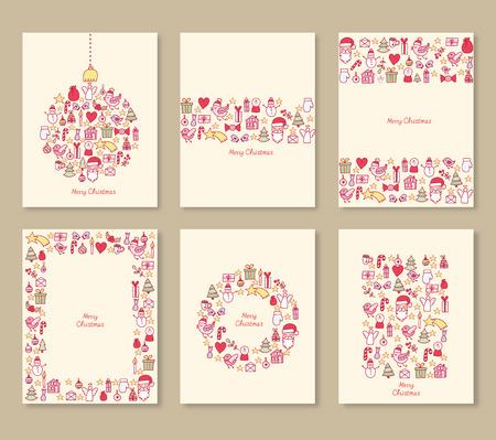 Set of Christmas brochures
