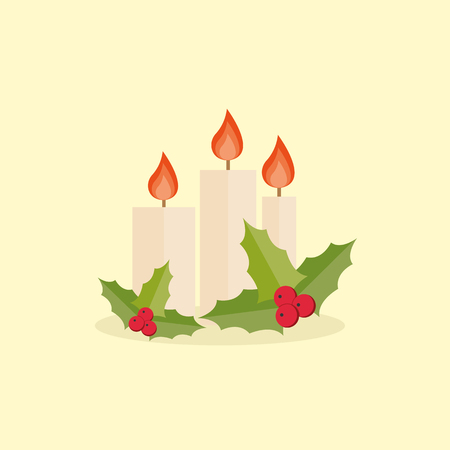 advent wreath: Christmas candle icon Illustration