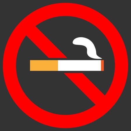 smoldering: No smoking sign
