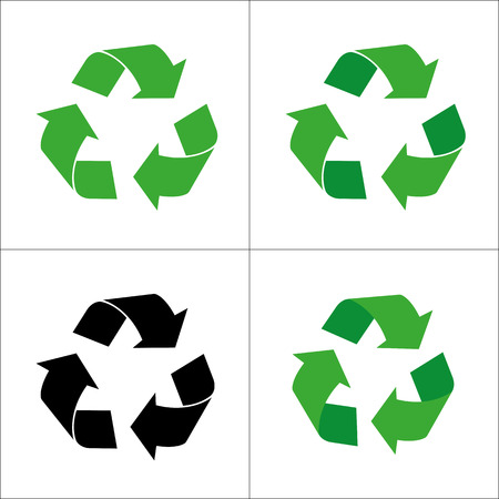 Sign of recycling Vectores