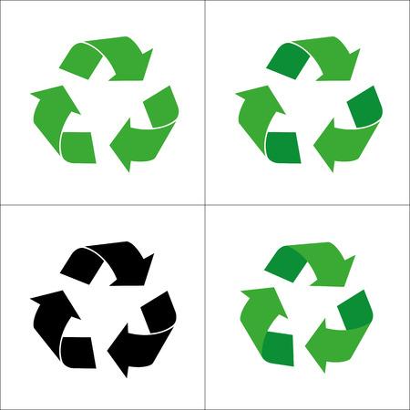 reciclar basura: Signo de reciclaje