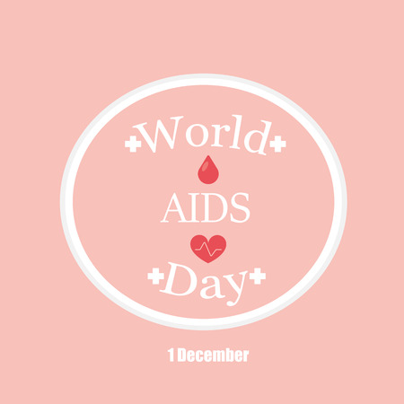 sexual intercourse: world aids day Illustration