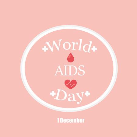 alert ribbon: world aids day Illustration