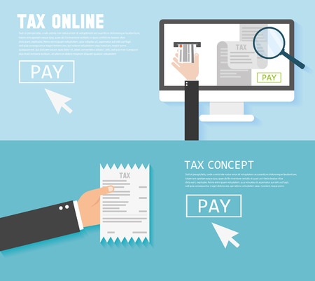 account form: Concepts for taxes, finance.  Taxes money icon income taxation Illustration