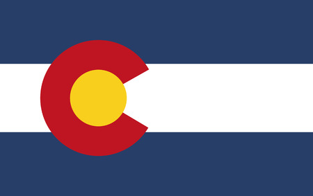 denver colorado: Flag of Colorado Illustration