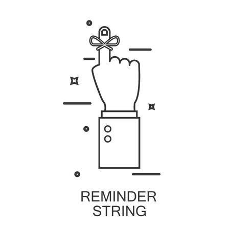 memorable: Reminder string. Line style