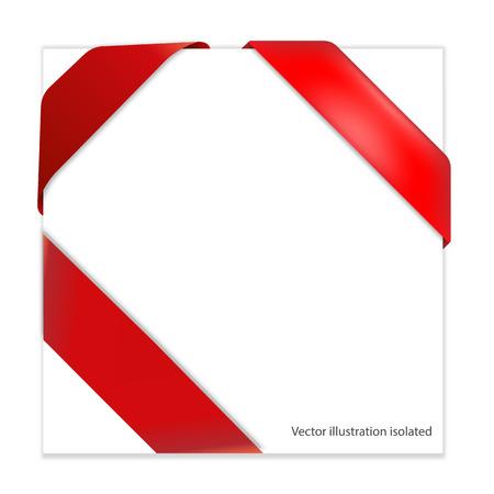 rad: Red corner ribbon