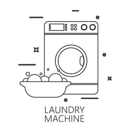 laundry line: Icon of laundry line style Illustration