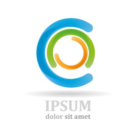 company: Icon, circle company logo design