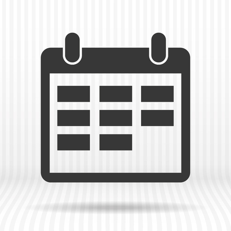 Icono de calendario Ilustración de vector