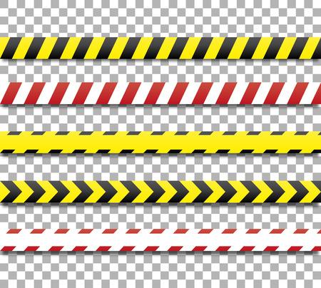 linia policyjna i taśmę niebezpieczeństwo. taśmy ostrzegawczej