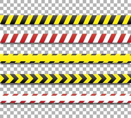 restricted access: Police line and danger tape. Caution tape