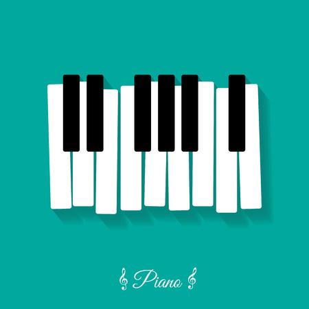 Piano., flat, icon