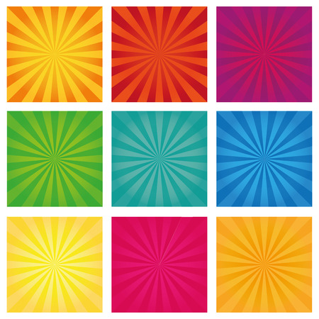 revolving: Set of backgrounds ray. Vector sun rays. Set texture