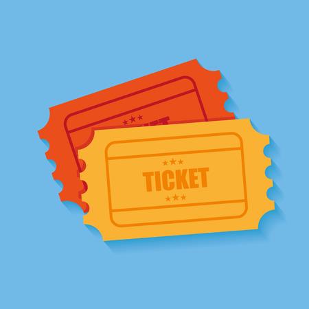 raffle ticket: Tickets icon. Retro cinema tickets. Movie ticket in flat style