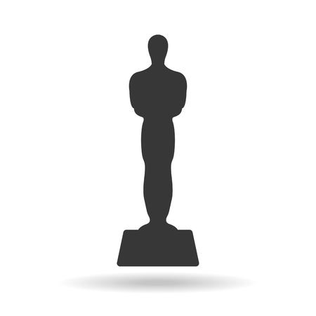 Golden movie award. Icon. Vector illustration