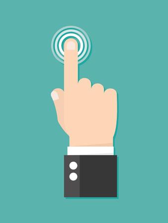 Dotknij ikonę koncepcji. prasy Finger