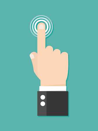 Touchez l'icône concept. presses Finger