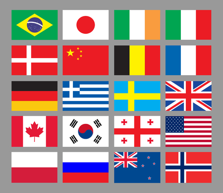 world flags: Flags of the world. Vector illustration Illustration