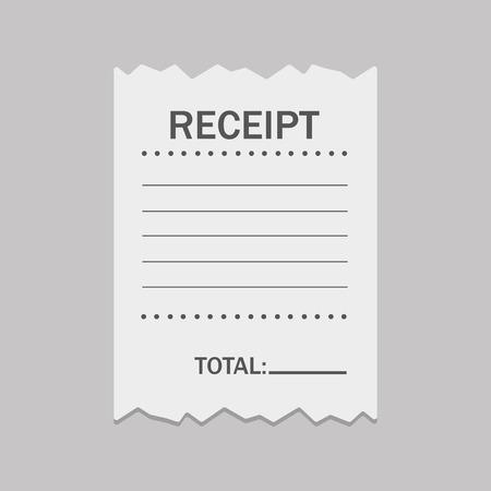 Blank receipt