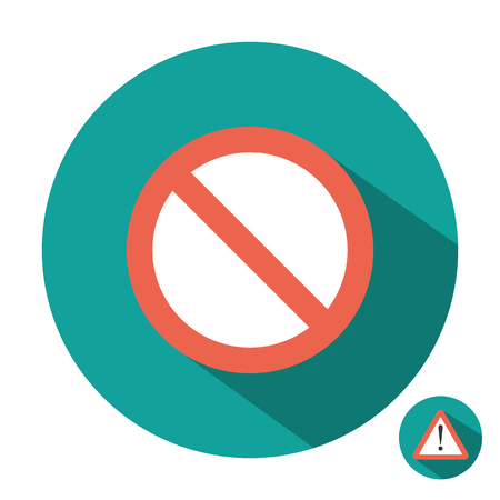 attention: Attention sign icon flat Illustration