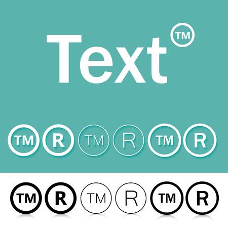 trademark: Trademark Symbol Illustration