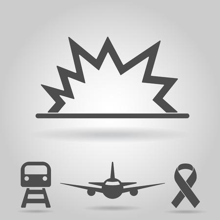 act: Terrorist act icon Illustration