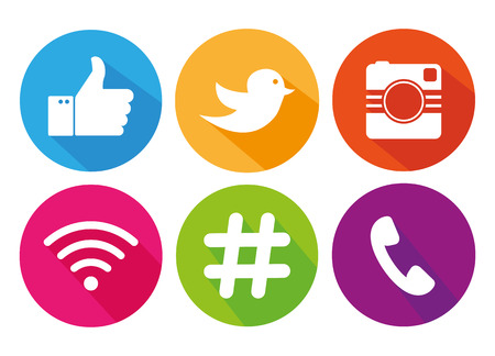internet logo: Icons for social networking vector