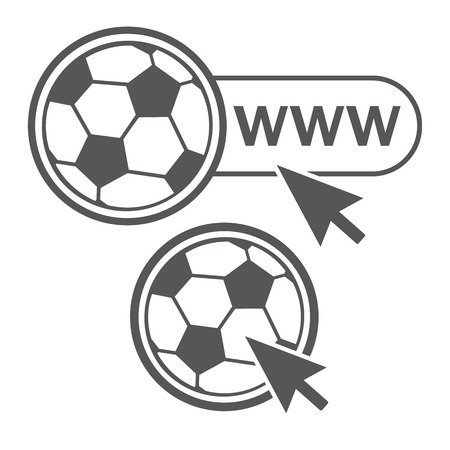 web site: Soccer ball icon for web site