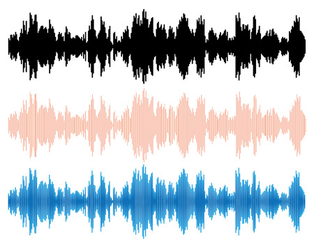 vibrations: Sound wave. Music design