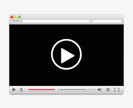Video player Vectores