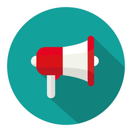 megaphone icon: Megaphone icon flat Illustration