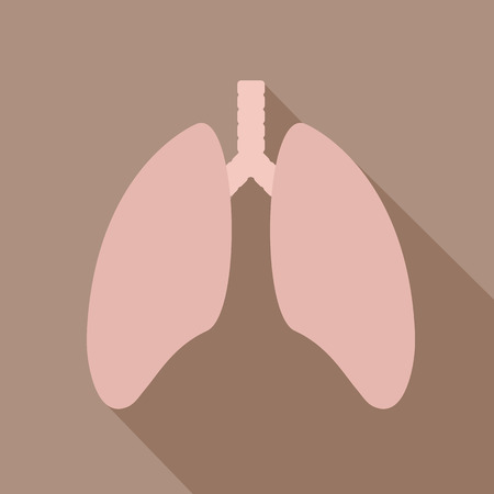 lung transplant: Human lung icon. Health care icon. Lungs - vector icon Illustration