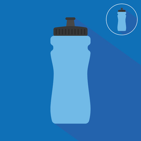 water icon: Sports bottle with water icon Illustration