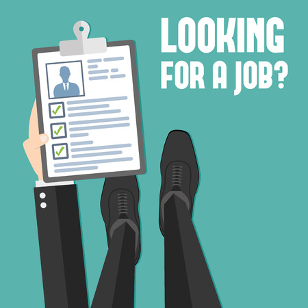 job searching: Concept of job searching Illustration