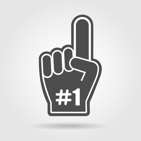 Finger jusqu'à 1 fan icon Banque d'images - 55704185