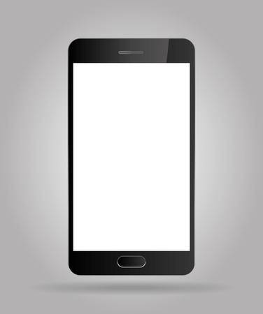 aislado: Realista teléfono inteligente teléfono móvil Vectores