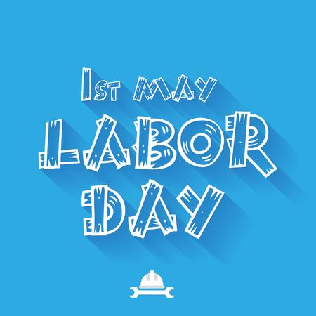 jornada de trabajo: día internacional del trabajo. ilustración vectorial día del Trabajo
