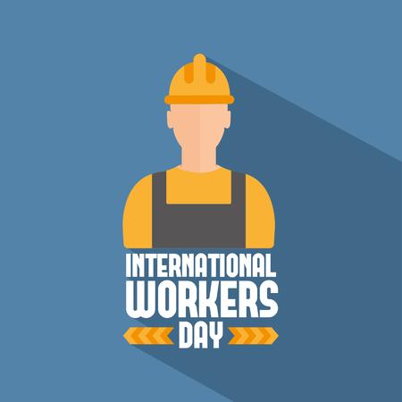 Labor Day Plakat. Internationale Tag der Arbeit. Tag der Arbeit Vektor-Illustration Vektorgrafik