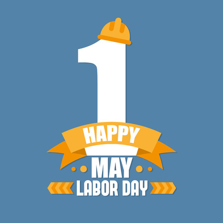 Labor Day Poster. International labour day. Labour day vector  illustration  イラスト・ベクター素材