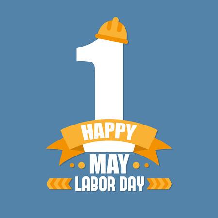 Dag van de Arbeid Poster. Internationale dag van de arbeid. Dag van de Arbeid vector illustratie Stock Illustratie