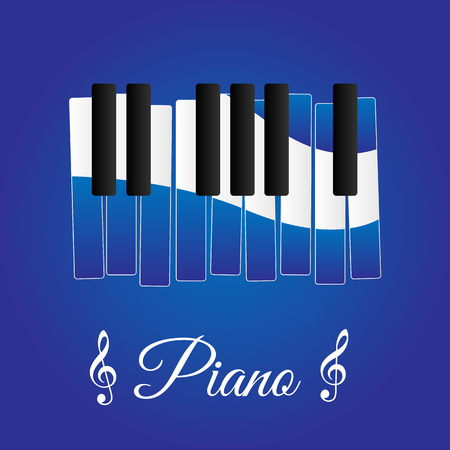 business card template: Piano Illustration