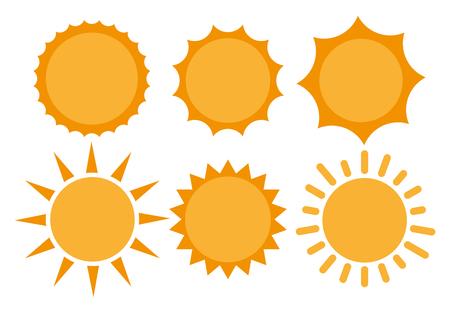 Sun, Sun Icono. Sol del vector del icono. icono plano Ilustración de Sun del vector