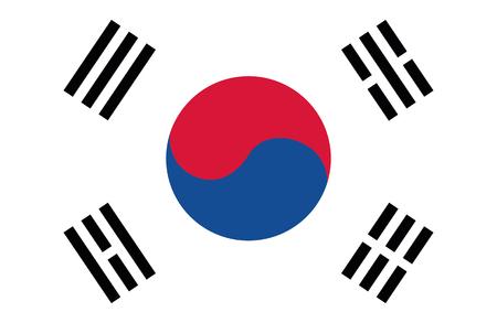 pyongyang: Flag of South Korea
