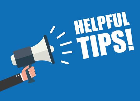 tricks: Hand holding megaphone - Helpful tips