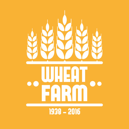 grain fields: Wheat farm icon. Crop icon, Barley icon or Rye icon