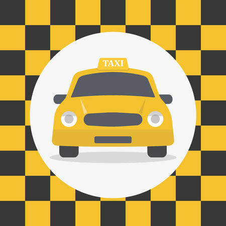 commute: Taxi sign in a flat style Illustration