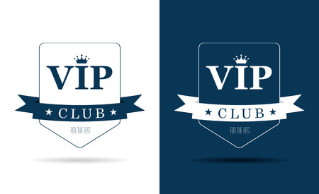 only members: Vip club sign Illustration