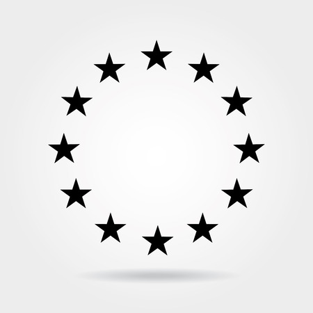 united stated: Stars in circle